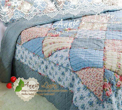 Annie Blue Patchwork Sofa/Chair/Bed Throw/Blanket made with Cath Kidston Fabric