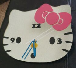 Sanrio Hello Kitty. Mirror wall clock, time piece chic NiceTested works