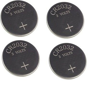 4 X SAAB 9 3 93 9-3 900 REMOTE KEY FOB BATTERY CR 2032 X4