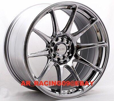 XXR 527 18x9.75 5x100/114.3 +20 Platinum EVO X 350z 370z