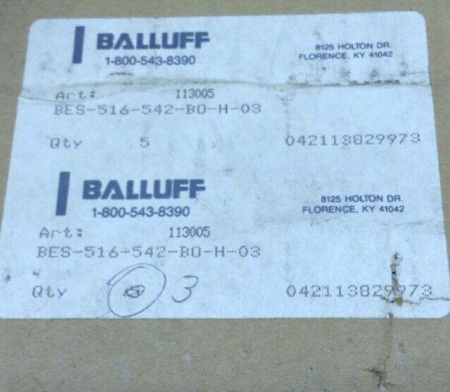 Balluff Proximity Sensor 516-542-BO-H-03 LOT OF 5