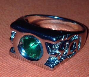 Green Lantern Comic Inspired Power Ring Size 7 Crystal Stone Centre