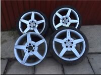 5x112 genuine Mercedes Benz AMG 18 inch alloys wheels