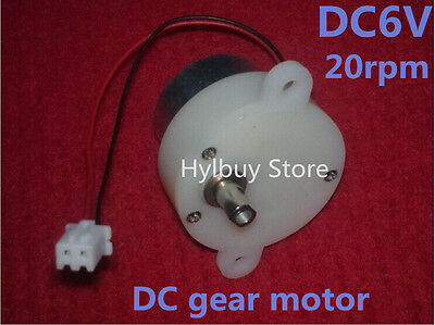 Small Dc Geared Motor 3v-6v 5v Worm Brush Gear Motor Slow Speed 18rpm