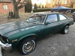 1977 Green Chevy Nova SB 350 - Project Car