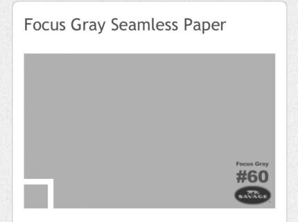 Focus Gray seamless background paper 3m roll Marrickville Marrickville Area Preview