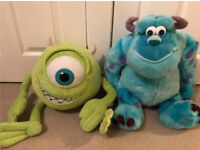 Disney Pixar Monsters Inc Mike & Sully Soft Toys