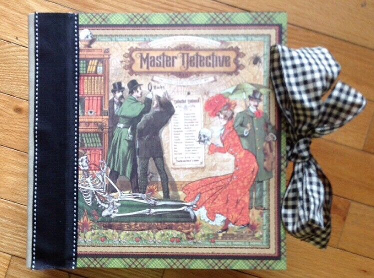 Handmade Album Using Graphic 45 Master Detective Collection