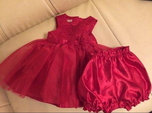 Kinderkleidung ❤️ Festlich Baby Kleid Set 2 Teile Gr. 68/74  Rot ✨Neuwertig✨