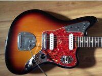 Fender USA Jaguar AVRI electric guitar with upgrades and original case - Jazzmaster Strat Gibson