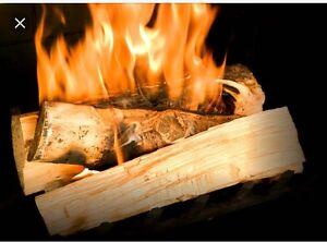 Stay warm! XXL bags of split seasoned birch firewood