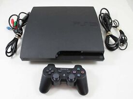 Playstation 3 PS3 320gb with gta5 and headphones