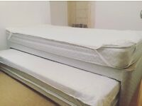 2 Single Guest Bed with Mattress