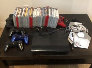PS3 system with accessories