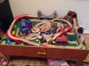Train table with train set
