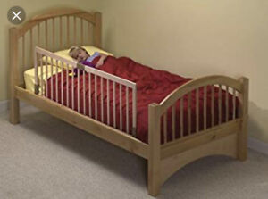 KidCo natural wood bed rail