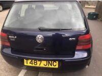 VW Golf MK4 1.8 20V GTi Blue 5-dr 12 MONTHS MOT, new clutch, SERVICE HISTORY £750