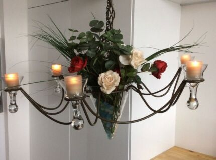 DUSK Chandelier style Candelabra with 6 candles. Italian Made.