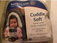 Sunshine kids cuddle Soft Head And Body Support for Car Seat VGC