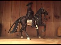 The wooden statue of horseman for sale  London