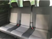 Vw T5 Rear Seats, quick release system, fold flat, Used but in excellent condition