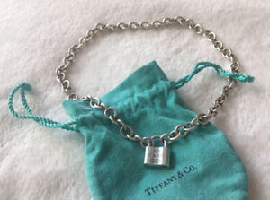 Tiffany and Co. 1837 Silver Padlock Necklace