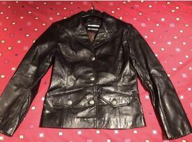 Leather jacket - size 10