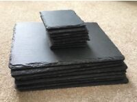 8 x slate placemats and 8 x slate coasters