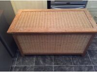 RATTAN AND PINE TRUNK