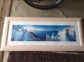 Santorini framed picture