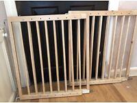 Tomy wooden safety baby gates x2