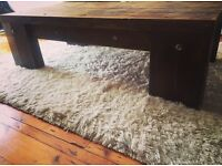 Oak Thick 3Inch Beam Coffee Table