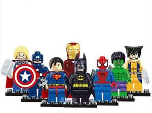 NEW!! All 8 SPIDER-MAN, THOR Super Hero LEGO Men Figures