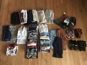 Big lot of 51 items boy clothes size 3-4t. Shoes size 11.