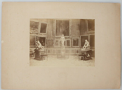 MOUNTED ALBUMEN PRINT OF STATUES IN THE GALLERY OF FIRENZE.  Statues In Florence