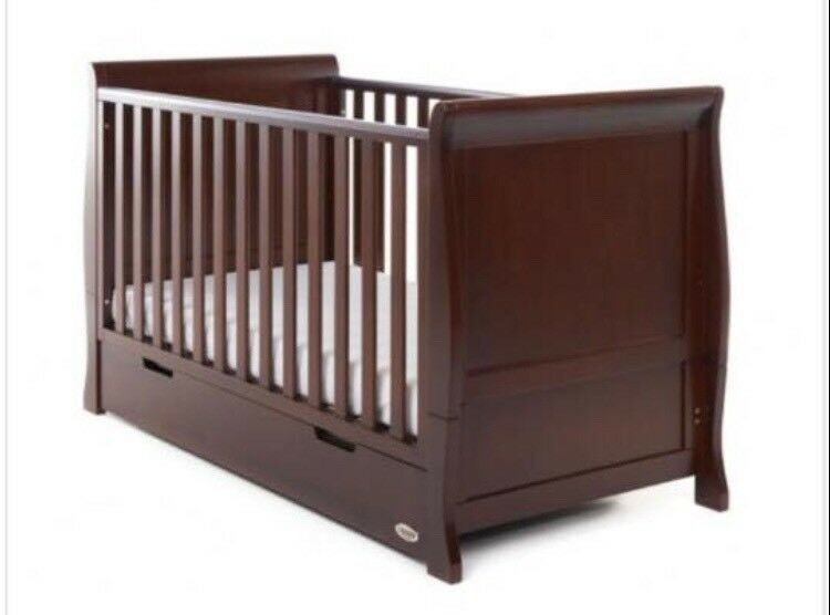 Obaby Dark Wooden Walnut Nursery Furniture Bundle