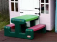 Little tikes picnic bench table