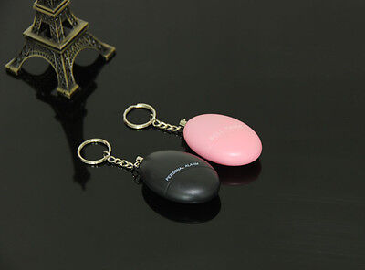 4er Personal Alarm Panikalarm Taschenalarm Schlüsselanhänger 120db Rosa+ Schwarz