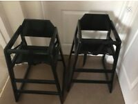 Oypla stackable highchairs