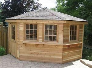 Pool Side Cabanas and Change Houses - In Stock or Custom Order