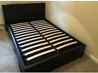Ottoman Storage King-Size Leather Bed Frame - Free Local Delivery