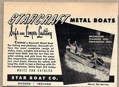 1951 Print Ad Starcraft Metal Boats Star Boat Co. Goshen,IN