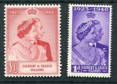 Gilbert & Ellice Islands 1948 Silver Wedding Set SG57/8 fine MVLH