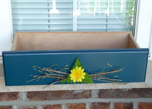 3 Wooden Window Box Planters : NEW never used : As shown Cambridge Kitchener Area image 3