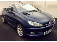 PEUGEOT 206CC CABRIOLET ALLURE [2005] LONG MOT..LOW MILES..LEATHER..LOOKS GREAT