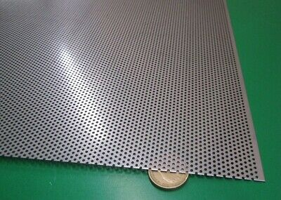 Perforated 304 Stainless Steel Sheet .024 Thick X 24 X 24 .045 Hole Dia.