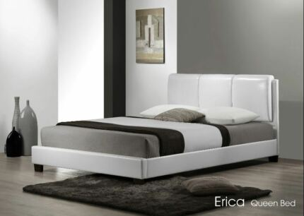 CLEARANCE SALE NEW WHITE BUDGET QUEEN BED FRAME