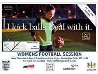 Women's beginner football session – Kennington/Oval