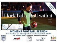 Ladies Football Training and Match (All abilities welcome) - Kennington Park
