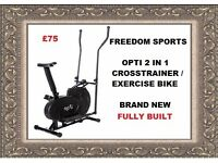 Opti 2 in 1 Cross Trainer and Exercise Bike New Fully Built Ready To Use